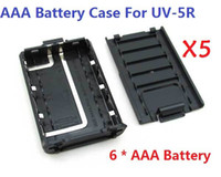 Wholesale 5pcs New Version BAOFENG UV R AAA Battery Case For UV R UV RA UV RB UV RC UV RE Plus TYT TH F8 Ham Radio