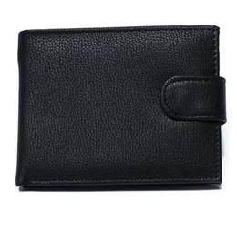 Wholesale Business fashion license men Genuine leather wallet short fold Credit card bit foreign trade casual versatile purse wallets