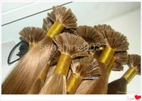 """Peruvian Hair #1b/2/4//6/8/16/18/60/613 Straight 100% Indian Human Hair Italian Keratin Hair Flat-Tip Hair Extension Pre-bonded hair Human Remy Hair 6A Grade 18""""-28"""" 300g lot"""