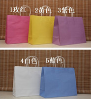 Paper Hand Length Handle Kraft Paper Wholesale Big Size Shopping bag, 33X26X12CM,Janpan technical, Kraft paper bag with handle, Fashionable gift bag (AS-0101)