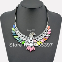 Pendant Necklaces Celtic Women's High Quality Women Luxury Costume Fashion Chunky Necklaces & Pendants Chokers Crystal birds Gorgeous Statement jewelry