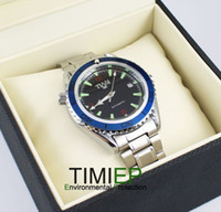 Men's Round 25 2013 Blue Ring Mens Mechanical Clock AUTO SS TIMI Brand Wrist Watch X'mas Gift