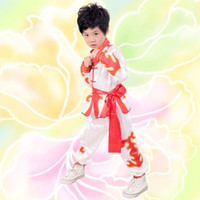 Wholesale Boy Stage Wear Performance Clothing Team Training Costume Martial Arts Kung Fu Tang Show Suit A0281