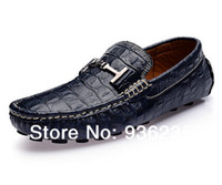 Wholesale 2014 Spring new fashion crocodile pattern genuine leather male gommini loafers shoes breathable men s casual sneakers Moccasins