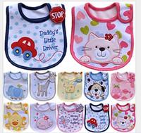 Wholesale Infant saliva towels layer Baby Waterproof bibs Baby wear accessories kids cotton apron handkerchief children animal bib