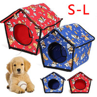 Wholesale Lovely Soft All Weather S M L Size Blue Red Color Pet Dog Doggy Puppy Cats Kitty Assemble Indoor House