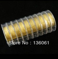 Other Jewelry Findings NEW Fashion Vintage 10Rolls Gold Tone Copper 10m roll Wire Jewelry Cord 0.3mm DIY Jewelry Making Free Shipping Gifts Z860