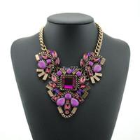 2016 partie de la mode z collier de la marque Hot chunky choker de luxe collier déclaration fleur Transparent Colliers Pendentifs bijoux