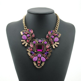 Hot brand z necklace fashion party chunky luxury choker statement necklace Transparent flower Necklaces & Pendants jewelry