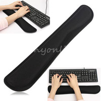 Wholesale Utility Soft Gel Black Comfortable Wrist Raised Hands Rest Support Pad Cushion For PC Keyboard Office Work Decoration
