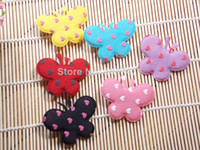 Fingerless Gloves Headwear Yes Butterfly shape mix color Cute DIY cell phone decor hair bow and flower centers, embellishment clothing accessories