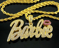 Celtic iced out jewelry - Fashion Hip hop Iced Out Nicki Minaj Pendant Jewelry Bling Bling Chunky Chain Choker Necklace N1004