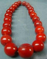 Wholesale Wonderful Tibet Real red coral chunky beads necklace cm