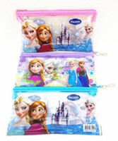 Wholesale 2014 Hot Frozen Pencil Bags Fashion Cartoon Elsa Anna Pencil Case Kids Stationary Bags Christmas Gift Colors