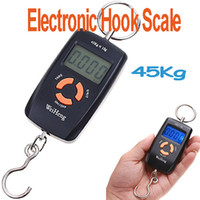 <50g Hanging Scale 45Kg 45kg Double Precision Hook Pocket Electronic Fishing Hanging Weight Digital Scale Black ,5pcs lot, freeshipping