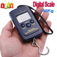 Stainless Steel TOMTOP Digital 10pcs lot 20g-40Kg,40Kg Digital Hanging Luggage Fishing Weight Scale retail freeshipping,dropshipping wholesale