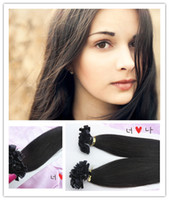 Cheap Brazilian Hair brazilian remy Hair Best Black Straight Flat Tip hair extension