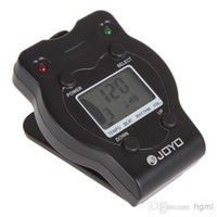Wholesale JM Mini LED LCD Screen Guitar Pulsating Metronome with Clip amp V Battery