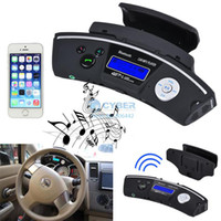 24V Interchangeable  New Top Quality! 2014 New Arrival Steering Wheel Bluetooth Car Kit Handsfree Wireless Headphones FM SD MP3 Player b4 SV005839