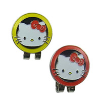 Wholesale golf hat clip golf marker hello kitty pictures