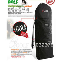 Canvas ball wheel - golf bag golf Air bag plane bag golf ball bag outerwear with wheels and password lock