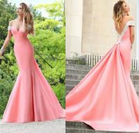 achat en gros de américain chérie rose-Robe de soirée en satin de mariée en mousseline de soie