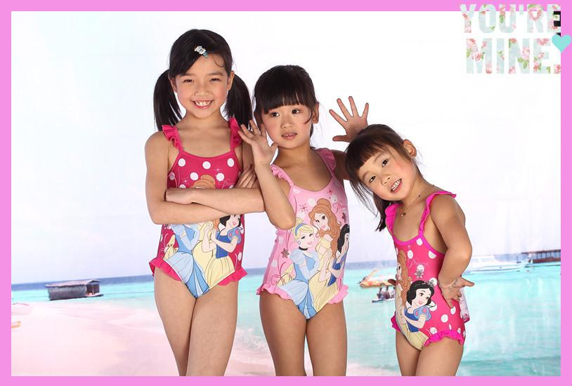 Zoom 1-6Y Endearing princess Kids girl Swimming costumes One Piece suit Children Girl one-piece bathing SC008 - New Century Star store.