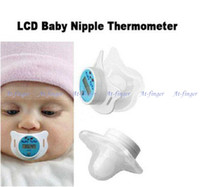 Wholesale new digital LCD baby nipple thermometer nipple like digital thermometer for infants E0015