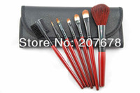 Wholesale Goat Hair Makeup Brush Set Eyeshadow Blush Lip Gloss Pen Case