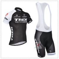 Wholesale 2014 Trek bike road cycling jersey set Mountain Cycle Apparel short sleeve and bib pants outdoor tight clothing