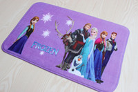 Wholesale 38X58cm frozen mat Bathroom Coral velvet bath mats