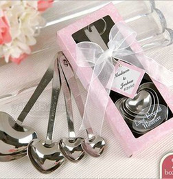 Wholesale Love Beyond Measure Heart Measuring Spoons in Gift Box_Pink Wedding Favors sets set pieces