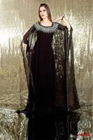 Reference Images Scoop Tulle Free Shipping New 2014 Elegant Charming Embroidered Black Long Sleeve Chiffon Dubai Abaya Kaftan Dress Evening Dress