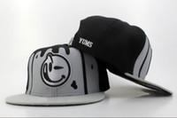 Wholesale Yums Snapback Hat Black Grey Snapbacks Lovely Smile Snap Back Hats Ball Snap Backs Caps Cheap Womens Mens Fashion Hip Hip Cap Sports Caps