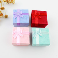 Wholesale FOUR COLOR OPTIONS Jewelry Boxes For Wedding Rings for Gifts
