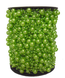 60 Meter Roll DIY Green Pearl Beads Strand Garland Wedding Centerpiece Flower Table Decoration Crafting Accessory