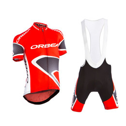 2019 red Orbea Short Sleeve Cycling Jersey and bib shorts  Cycling Clothing ciclismo maillot MTB A8