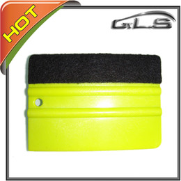 Car Paste Wrapping Tool Soft PP Material Squeegees with Felt Free Shipping 100 PCS by FEDEX