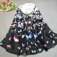 Wholesale The new women s fashion chiffon long scarf wrap shawl beach lotus