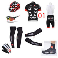 Wholesale 2014 castelli team Wear Compound cycling jerseys short sleeve bib sets amp arms amp gloves amp legs amp helmet amp Shoes covers amp cycling sunglasses