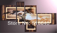 Wholesale Combinative Handpainted Landscape Abstract Canvas Oil Painting Decorative Picture Wall Hanging Art pt146