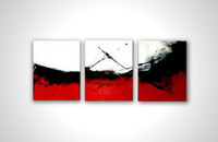 Bamboo Yes kungfu 100% hand painted discount abstract 3 panel canvas art oil painting framed wall art modern sets com008