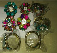 Wholesale XMS Jewlry Vintage Alloy Colorful Jewelry Watch Bracelet Fashion Lady Bangle