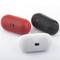 2.1 pill speaker - NEW Pill Speaker Spills Wireless Mini Bluetooth Speaker with LED Light FM TF Card Slot Built in Battery Hands free Free Shi