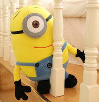 Wholesale big minion plush drawing toys peluche world of warcraft domo kun branca de neve learning machines large minion despicable me birhtday gift