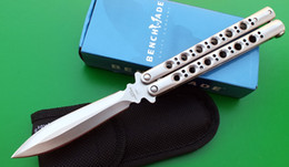 Wholesale Rare BM BM46 Bali song tactical knife C blade Spearpoint Plain Clip Point Butter fly survival knife knives new in original box