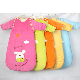 Wholesale ODEMA festival baby sleeping bag lovely baby pajamas new cotton newborn infant spring autumn half sleeves pajamas