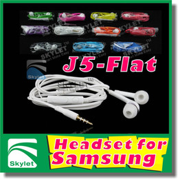 Wholesale Colorful Earphones mm earphone In Ear Stereo Headset Headphones With Mic and Remote Volume Control For S Samsung Galaxy S3 S4 S5 Note