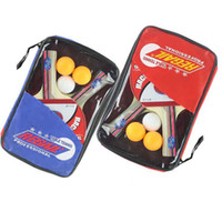 Wholesale Table Tennis Set Racket blade Ball Racket Pouch Long Handle Shake hand Ping Pong Paddle Balls Sports Accessories H9914 Series