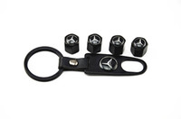 Yes benz universal Wholesale-MN-Mercedes Benz valve cock Car Tire Tyre Wheel Valve Stems Caps & Cover Wrench Keychain Set for decorate Wheels Rims Accessories